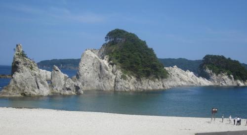 2015年夏の東北旅行2日目、①岩手県宮古市「浄土が浜」の絶景を楽しみました。