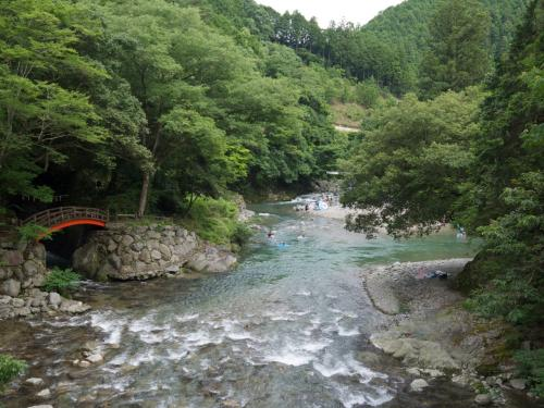 水神様に見守られて川遊び☆高見川、東吉野村