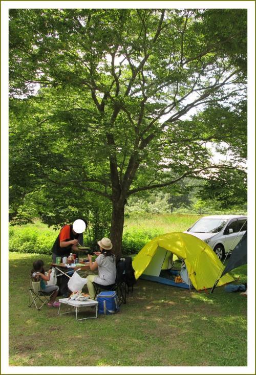 Solitary Journey [1625] ∠^_^;;)猛暑~涼をもとめて避暑地へ。ひつじのショーンがいました。<八幡高原デイキャンプ>広島県北広島町