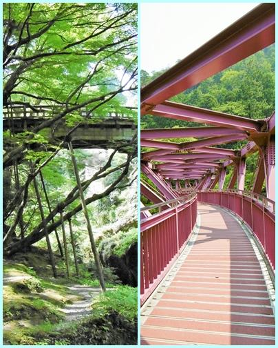 猛暑の福井旅(実は石川県(>_<))4 こおろぎ橋とあやとり橋