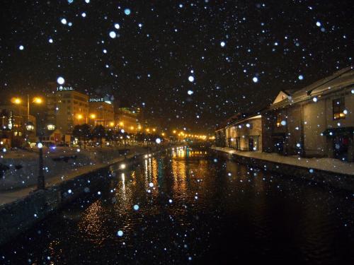 <晴れのち大吹雪かよ北海道・4>小樽観光冬景色・あぁ~本日は数年に1度の大吹雪だった・・・
