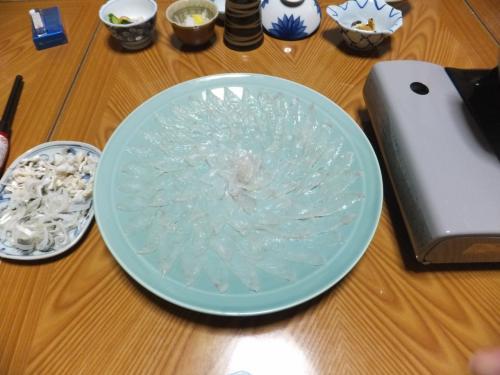 道後温泉から1週間で福井県小浜市へ同僚とフグ料理を食べに