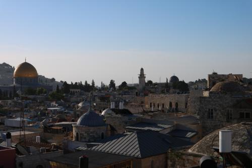 2016年5月1日から5月6日まで、イスラエルとヨルダンを訪れました。<br /><br />5月2日の朝8時にアンマンを出発して陸路国境を越えてエルサレムには15時過ぎに到着しました。<br /><br />【日程】<br />5月2日:旧市街のホテルで旅装をといた後、嘆きの壁をを訪れます。<br />5月3日:早朝6時頃に聖墳墓教会を訪れた後、イエスの聖跡巡りを兼ねて街歩きをします。<br />5月4日:午前中は生誕教会(ベツレヘム)を訪れ、午後はエルサレム旧市街の街歩きをします。<br />5月5日:聖墳墓教会を訪れた後、エルサレムを発ち国境(アレンビー橋)に向かいます。<br /><br />※最難関と言われる陸路でのイスラエル入国やエルサレムへの移動、食事につき現地で出会った邦人の方々にフォロー頂き感謝です。