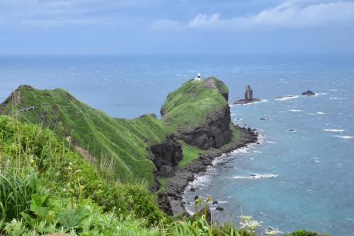 積丹ブルーの絶景が見られる神威岬(北海道積丹)