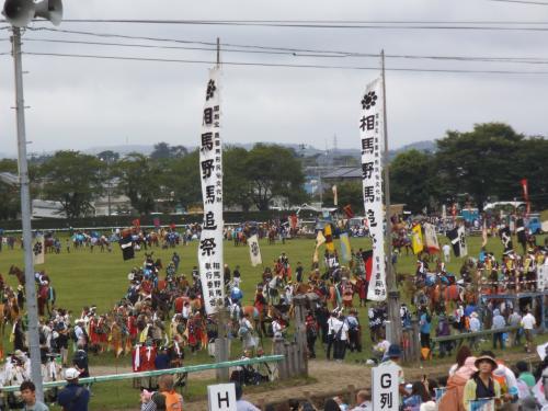 相馬野馬追祭を見学してきました