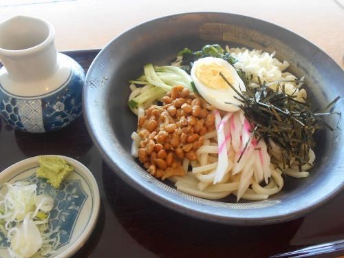 たまには「ベタ」な郷土料理1606  「しょぼろ納豆&けんちんそば」   ~小美玉・茨城~