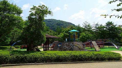 県立一庫公園 丘の駐車場。