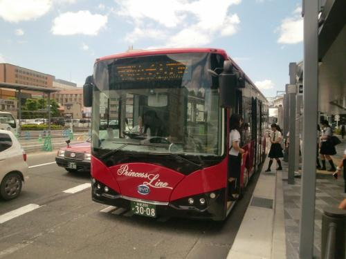中国製電気バスに乗車 と バングラデシュ料理を食べに京都へ