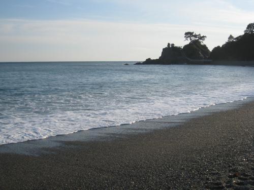 五年前の旅の写真を今見直して旅行記にしている。龍馬の話に必ず出てくる桂浜だ。バスツアーでここに連れて行ってくれた。立派な龍馬の像がたっている。砂浜は特別規模の大きいものではないし、近くにある神社もとりたてて立派なものでもないが、ここはそれでも、龍馬が歩いたであろうというので、有名なところだ。太平洋を見ながら外洋に飛び出す夢をもったのかどうかも、多分小説家達の創作だろう。大河ドラマ等では、この景色は、約束事のように取り入れられる。龍馬ファンにしてみれば、どうでもいい話なのだが。。。