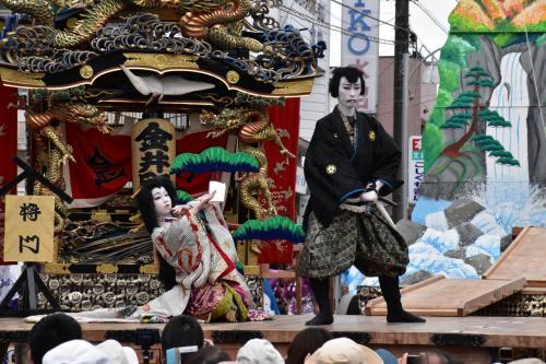 野外歌舞伎の烏山「山あげ祭」(栃木)