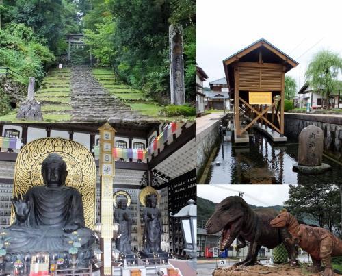 九頭竜湖を通り、大野で街歩き、平泉寺で静寂、越前大仏の大きさに驚き!旅