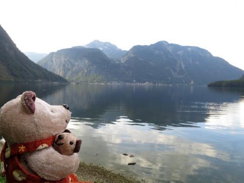 2016年9月21日-9月30日まで友人と二人でオーストリアのウィーン、オーバートラウン、ハルシュタット、グラーツを旅してきました。以下、旅行の日程で、ここでは9月23日の様子をまとめました。<br /><br />9月21日 羽田発のエアフラ夜便でウィーンへ<br />9月22日 朝、ウィーンに到着後、市内を観光<br />9月23日 ウィーンから列車でオーバートラウンへ移動<br />9月24日 クリッペンシュタイン(マンモス洞窟と大氷穴)観光<br />9月25日 朝、ハルシュタットへ移動後、塩坑などを見学<br />9月26日 午後、ハルシュタットから列車でグラーツへ移動<br />9月27日 グラーツ観光<br />9月28日 グラーツ観光<br />9月29日 グラーツから列車でウィーンへ移動<br />9月30日 友人は日本へ帰国。私は列車でチェコのプラハへ移動<br /><br />尚、時折、登場するクマのぬいぐるみはクマクマウー。腕に抱いているのはチビチビフー。私の旅の相棒で、旅行歴16年となるベテランのクマです(^^)。