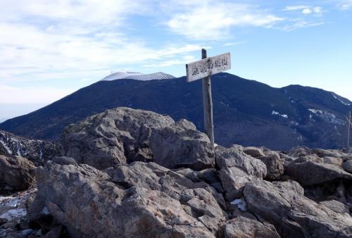 水の塔山・篭の登山 登り初めの雪登山