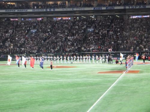 WBC(ワールドベースボールクラシック)1次ラウンド、日本代表「侍ジャパン」vsキューバ代表の試合を観戦しに東京ドームに行ってきました。
