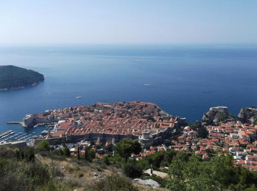 5年ぶりの海外旅行。スロベニア3泊の後、クロアチアに。久々の海外なので、控えめにリュブリャーナ→ブレッド湖→プリトビッツェ国立公園→スプリット→ドブロブニクという定番コースです。<br />メンバーは海外17年ぶりの長女に、同じく10年ぶりの妻、他にいつもの長男(大学院生)と次女(大1)。<br /><br />いくつかトラブルや選択ミスもありましたが、ほとんど晴天に恵まれ楽しい道中でした。<br />スロベニアでは長袖じゃないと寒かったのに、クロアチア中部では気持ち良い涼しさに。それがアドリア海まで南下すると日本と同じような暑さという気候の変化でした。湿度が低いのでしょうか、日陰は爽やかですが。<br />英語で用が足りるのはうれしいですが、スイスや北欧より英会話のスピードが速いのは、中高年にはちょっと辛い(笑)。でも子どもたちは理解できるらしく、日本人は会話が苦手は解消かも。<br />観光関係者はもちろん、街を行き交う人々も優しく親切で、また訪ねてみたいと思わせる両国でした。久々の海外旅行でしたが、やはり国内旅行にはない刺激がありますね。格安航空券をゲットしたおかげで、現地10泊のわが家にしては長旅でしたが、過去最安の費用におさえられたし(^○^)