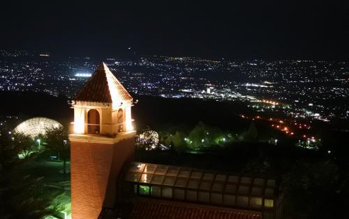 509号室から眺める夜景。