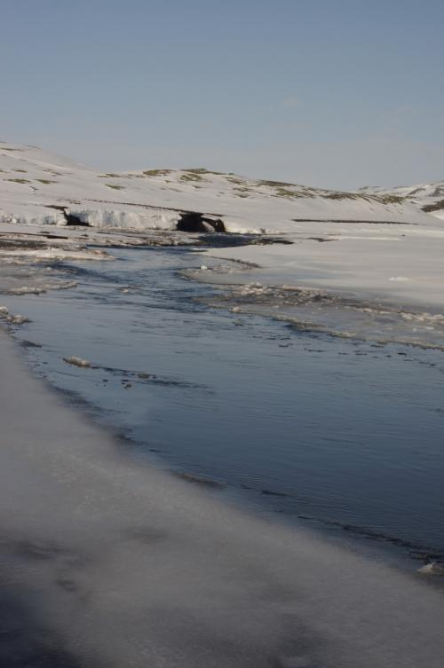 2012年に家族3人でアイスランド旅行をしました。旅程は以下です。<br /><br />アムステルダム→FI503便→ケフラヴィーク空港(アイスランド)→ブルーラグーン(Blue Lagoon Clinic 2泊)→ゴールデンサークル観光→ヘンギットル(Hotel Hengill2泊)農家訪問→キルキュバイヤルクロイストゥル(Hotel Laki2泊)サウスコーストツアー(南部の滝、山、氷河など観光)→ホプン→FEI743便→レイキャビク(RadissonBlu1919 2泊)→FI502便→アムステルダム<br /><br />旅行記⑤では、キルキュバイヤルクロイストゥルのHotel Lakiから出発する4WD車ツアーを紹介します。神々しい雪山や美しい滝ファグリフォスや渓谷を堪能できました。