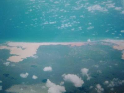 ソマリアの旅 空の旅 インド洋