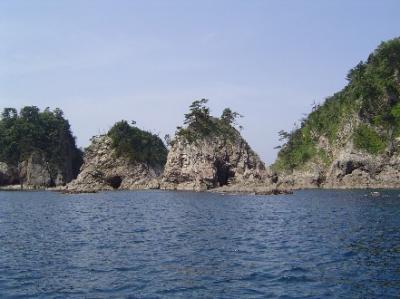 浦富海岸遊覧船めぐり 山陰海岸国立公園の旅