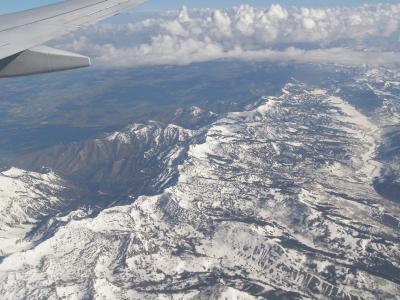 空の上からの眺め-Salt Lake City