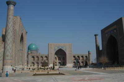 ウズベキスタン、サマルカンドその6、レギスタン広場