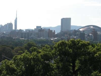 福岡の休日・・・その?福岡城天守閣からの風景と護国神社