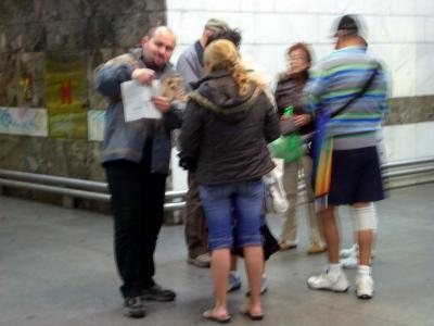 プラハ地下鉄で検札につかまる。