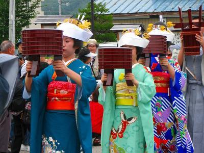 天下の美祭 会津田島祇園祭 七行器行列ー1