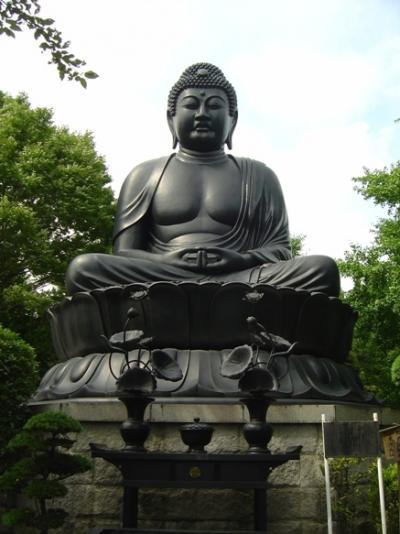 2007.08 乗蓮寺で「東京大仏」を拝む