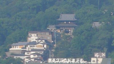 「琴平パークホテル」からの琴平周辺の眺め(2007年9月)