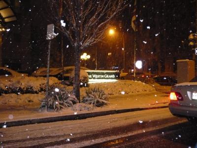 雪のワシントンDC