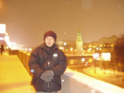 極寒のモスクワ