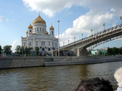 ロシア13: 「水上から眺める」 モスクワ