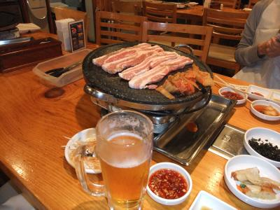 韓国に行けないので、赤坂でサムギョプサル&レディースプラン