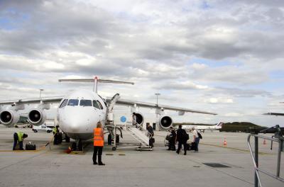エールフランス CITYJET パリCDG空港~フィレンツェFLR空港 ラウンジと機内食