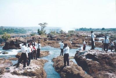 90年代のザンビア1998.8 「レンタサイクルで滝めぐり」 ~ビクトリアの滝~