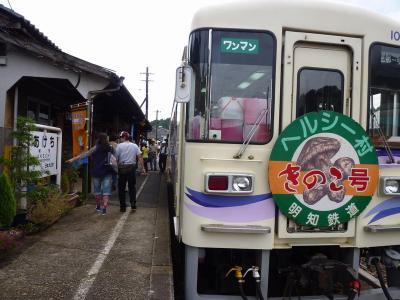 楽しい乗り物に乗ろう!  明知鉄道「きのこ列車」  ~明智・岐阜~