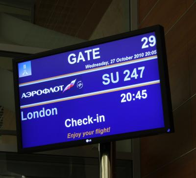 ロンドン・パリ旅行2010①東京からモスクワ・ロンドンへ From Tokyo to Moscow/London