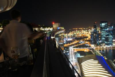 57階から見たシンガポール 話題のマリーナベイサンズに宿泊(プールやその周辺詳細)