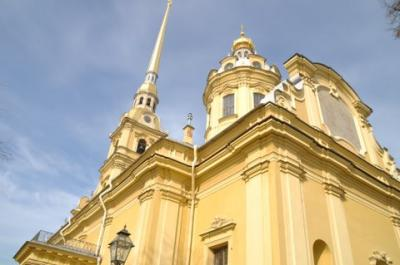 ロシアの華麗な街サンクトペテルブルグのペトログラード側。