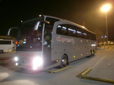 パムッカレ→カッパドキア 夜行バスでの移動