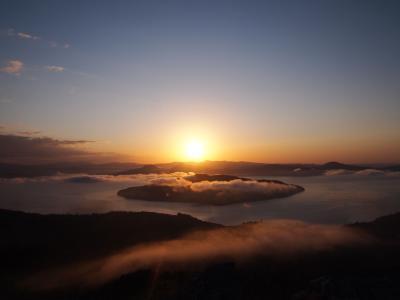 秋の道東♪四日目☆雲海の朝日~阿寒湖・オンネトー・藻琴峠♪