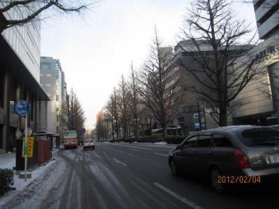 石巻・松島・塩竃1日旅行(1)仙台の朝。
