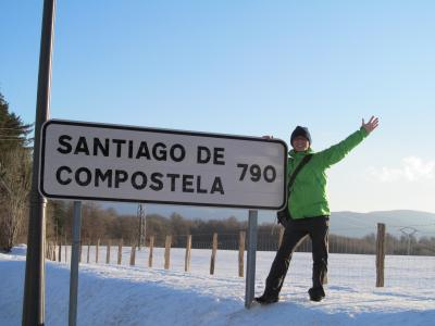 1 el camino de santiago dia1 saint - St jean pied de port to santiago distance ...