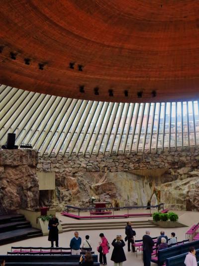 北欧GR06 FIN -5 テンペリアウキオ教会を訪ねて ☆岩盤を生かした造形美