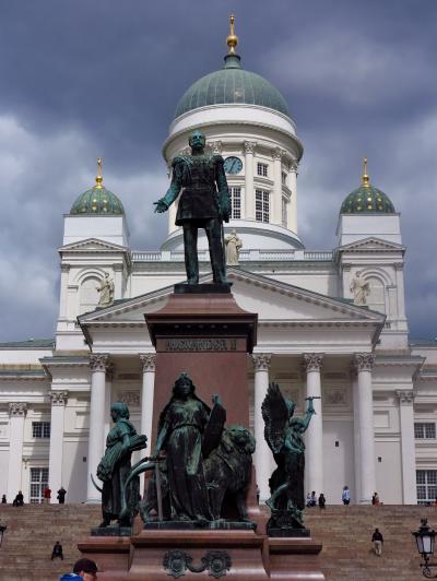 北欧GR08 FIN -7 ヘルシンキ大聖堂、内部も参観 ☆元老院広場を見渡して