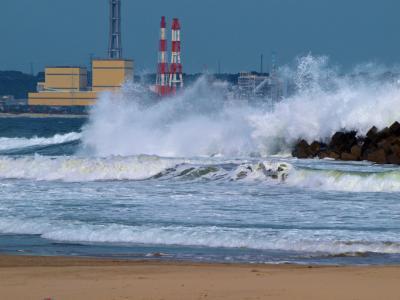 震災後のいわき 勿来の関 勿来の海