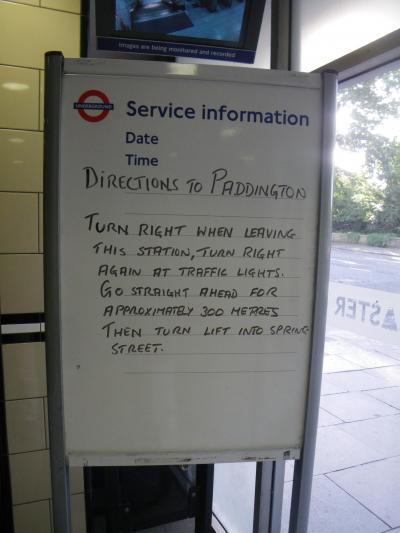27 やはりここはロンドンだった。(アンダーグラウンド・パシャリー・クローズ)