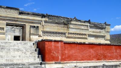 2013メキシコ旅行 (16) モザイク模様のミトラ遺跡
