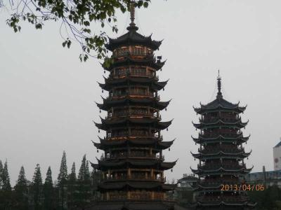 桂林1304L 四湖ナイト・クルーズ 鵜飼いは初めて